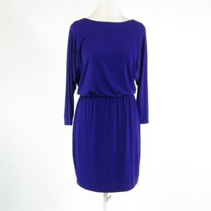 Anthropologie purple sheath dress 2